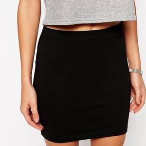ASOS Black Jersey Mini Skirt